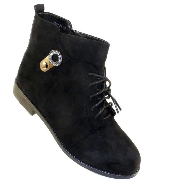 Замшевые женские ботинки деми купить через сайт городок