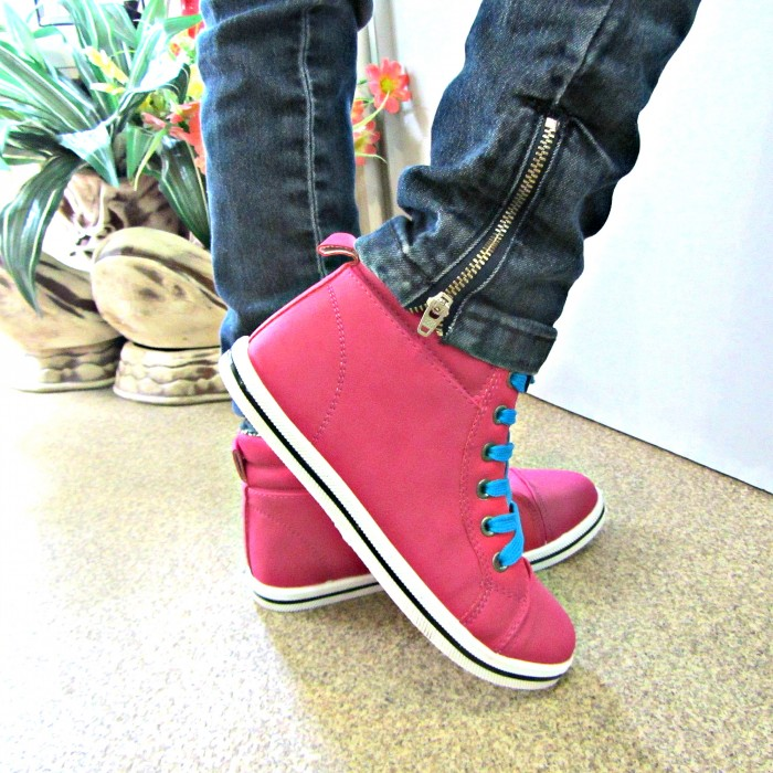 Купить ботинки на шнурках для девочки