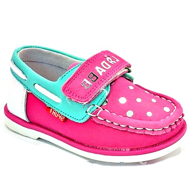Рожево-бірюзові туфлі на дівчинку на сайті взуття Городок