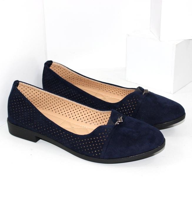 Туфлі жіночі замшеві сині