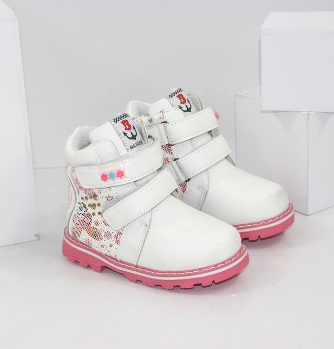 Белые ботиночки для девочек размеры 21 22 23 24 25 26