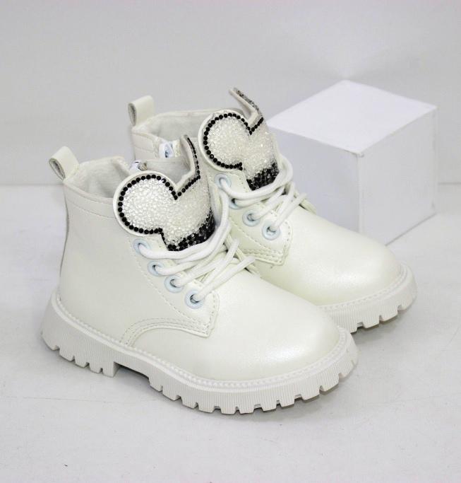 Белые ботиночки для девочек с языком в виде Микки Мауса