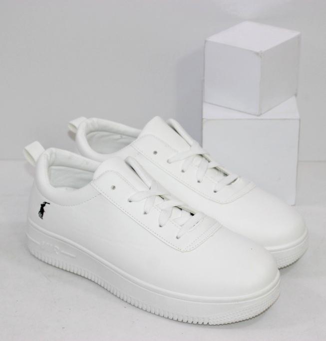 Женские белые кроссовки на плоской подошве недорого