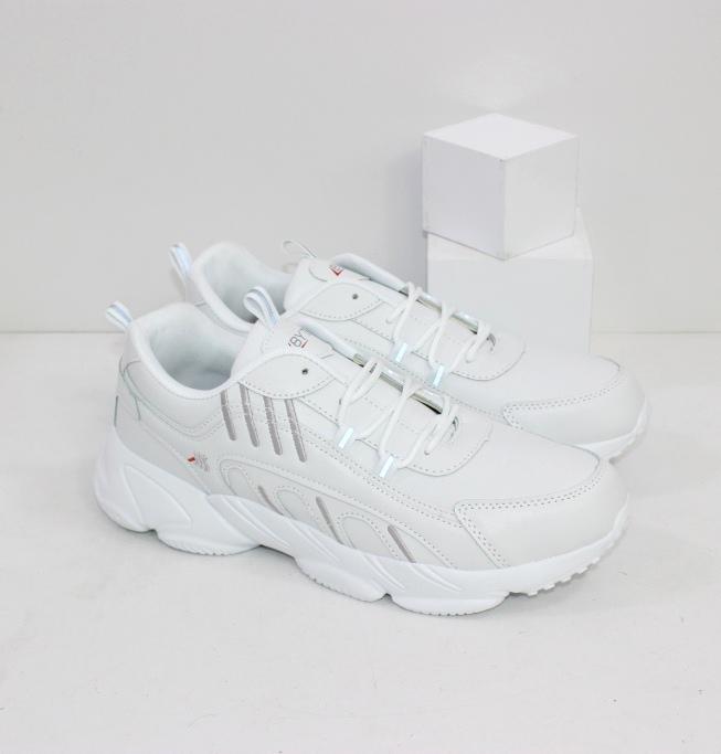 Мужские белые кроссовки на подошве из пены ЭВА