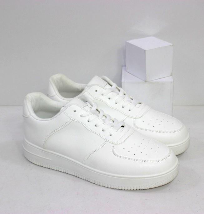 Полностью белые кроссовки для мужчин и женщин размеры 40 41 42 43 44 45