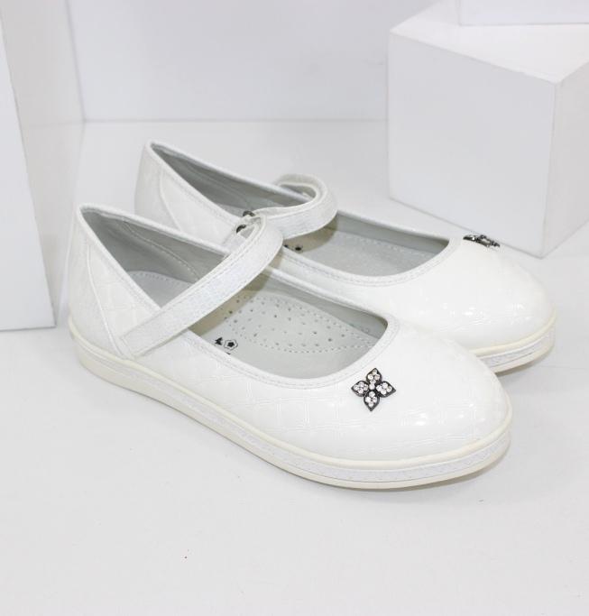 Белые туфельки для девочек купить недорого в интернет-магазине Городок
