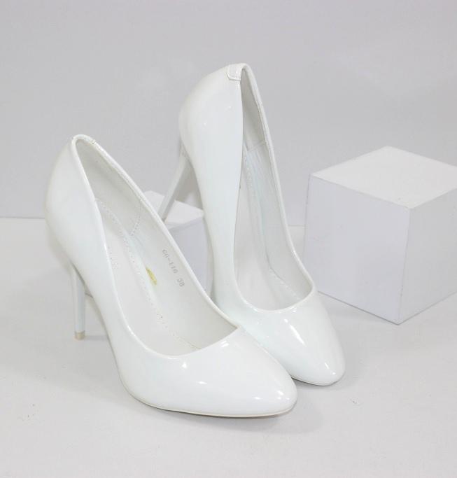 Белые туфли на шпильке GG-116 - туфли на каблуке купить в интернет магазине