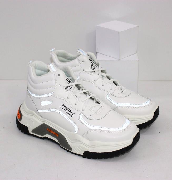 Купить белые высокие кроссовки с утеплителем