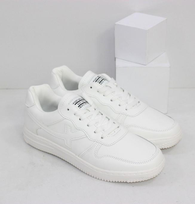 Женские лёгкие белые кроссовки на плоской подошве из пены ЭВА