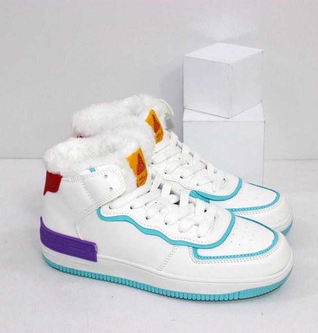 Купить белые зимние кроссовки хайтопы размеры 36 37 38 39 40