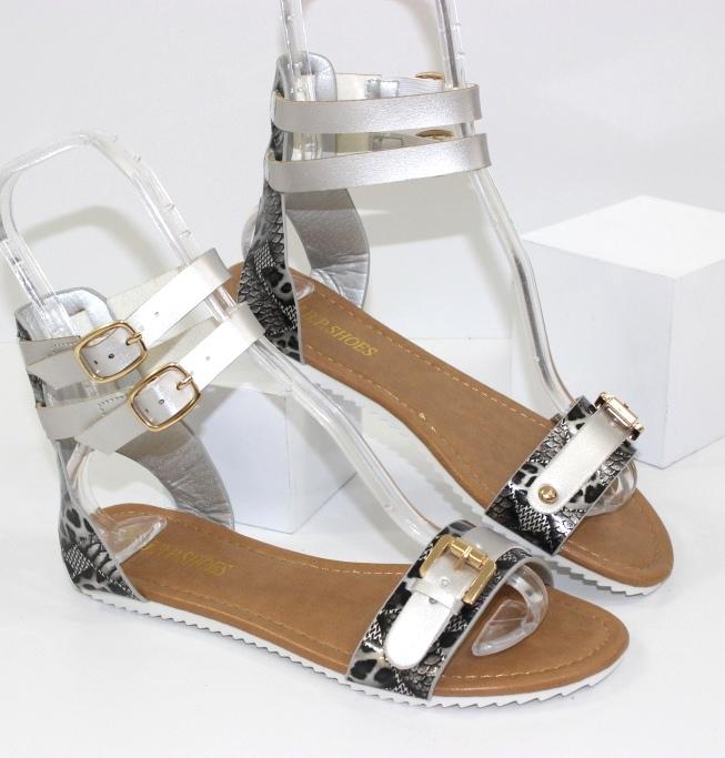 Удобные женские босоножки A015-12-silver - купить в интернет магазине Украина недорого