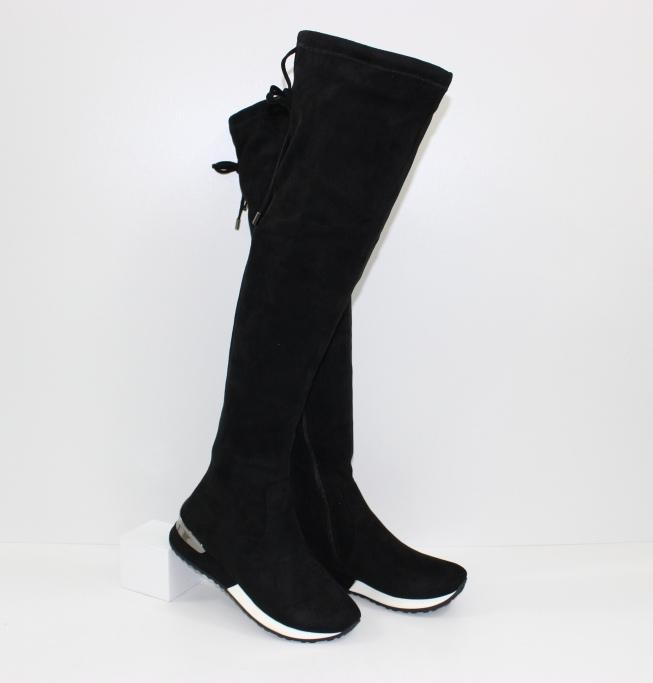 Чёрные ботфорты купить в интернет магазине Городок