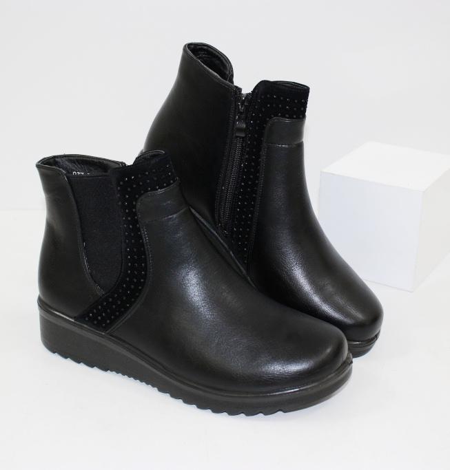 Комфортные, очень легкие женские ботинки на танкетке D037 - купить полуботинки женские недорогие в интернете