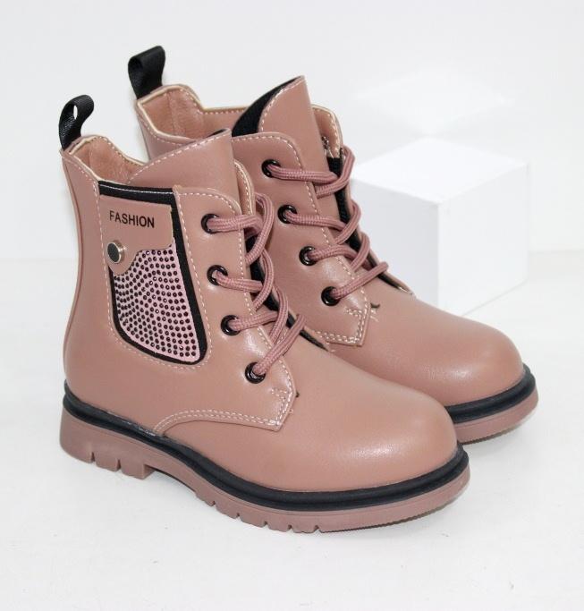 Купить розовые ботинки для девочек на осень размеры 27 28 29 30 31