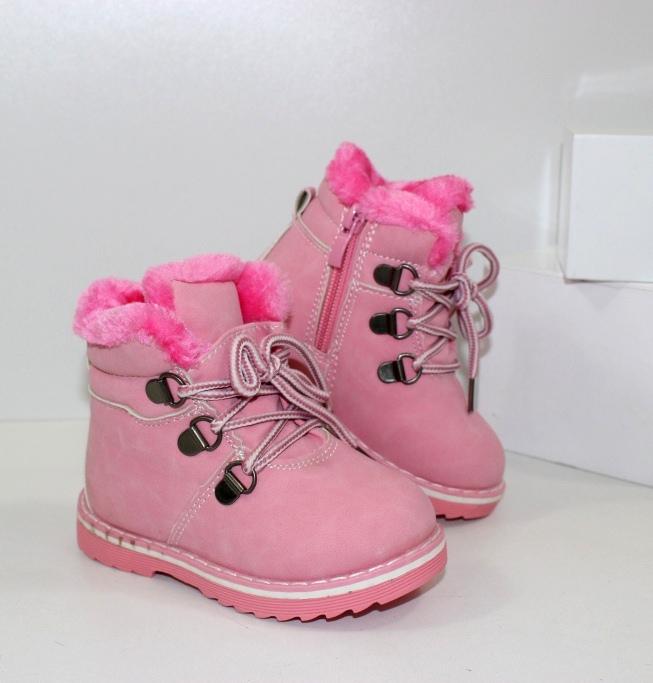 Теплые зимние ботинки 7250 pink - купить теплые угги детские, термо сапожки