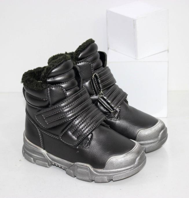 Купить теплые зимние ботинки для девочек на двух липучках размеры 27 28 29 30 31 32