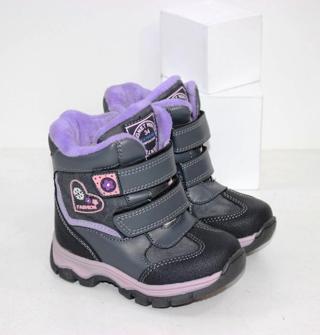 Купить теплые термо ботинки дутики для девочек размеры 23 24 25 26 27 28