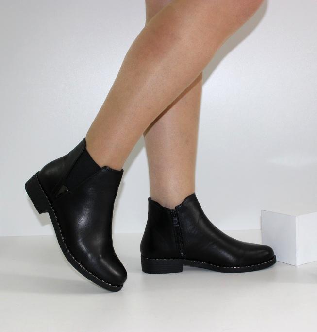 женские ботинки на низком каблуке