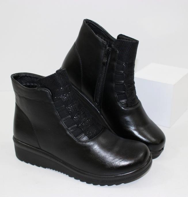 Женские ботинки на танкетке D029 - купить полуботинки женские недорогие в интернете