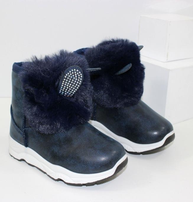 Ботинки для девочки с ушками F6048-2 - купить модные детские ботинки через интернет магазин