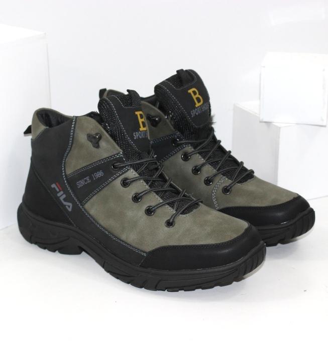 Стильні черевики зимові чоловічі в кольорі хакі