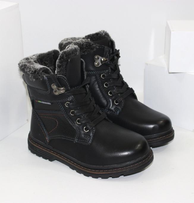 Тёплые детские высокие ботинки для мальчиков на зиму