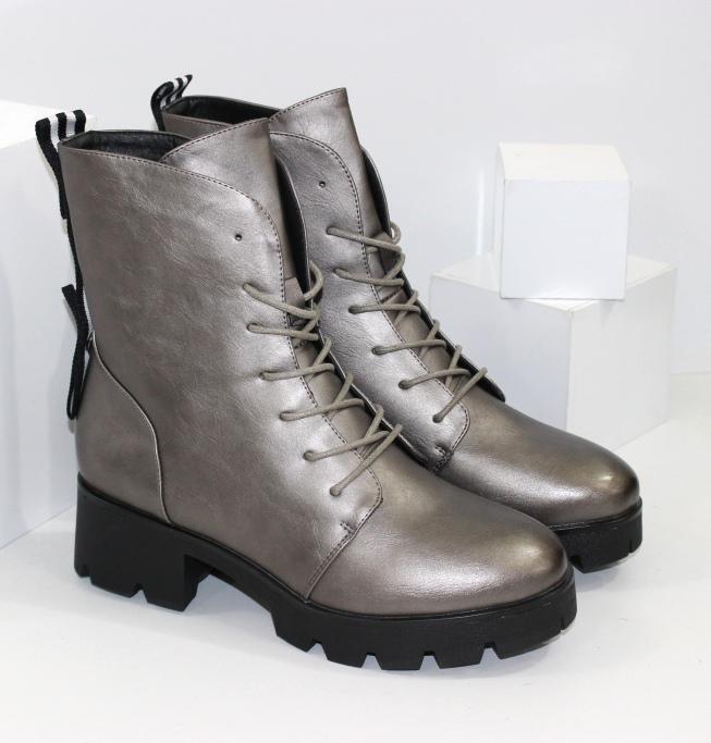 Ботинки женские на удобном устойчивом каблуке