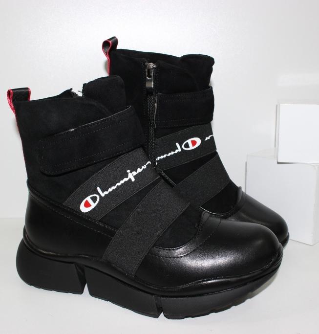 Стильные молодежные ботинки SL9416-1- зимние ботинки на танкетке купить в недорогом интернете