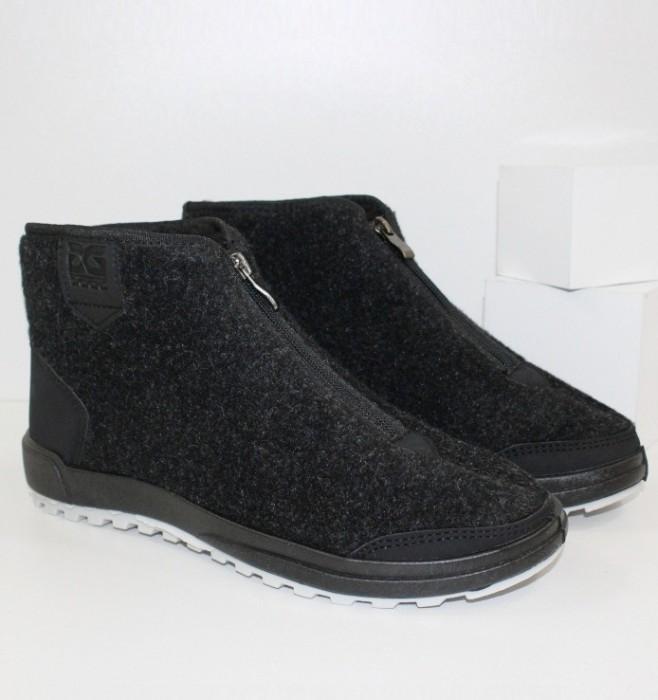 Мужские зимние ботинки черные