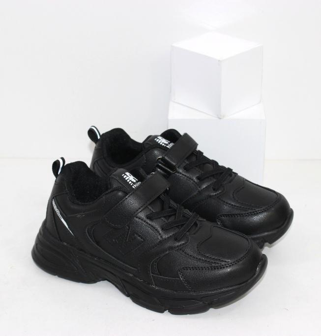 Лёгкие универсальные чёрные кроссовки для мальчиков в школу размеры 31 32 33 34 35 36