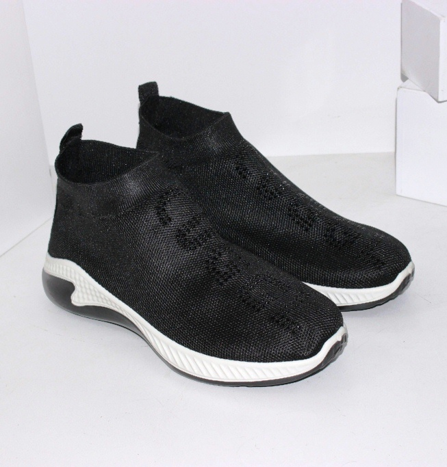 Кросівки шкарпетки чорні високі