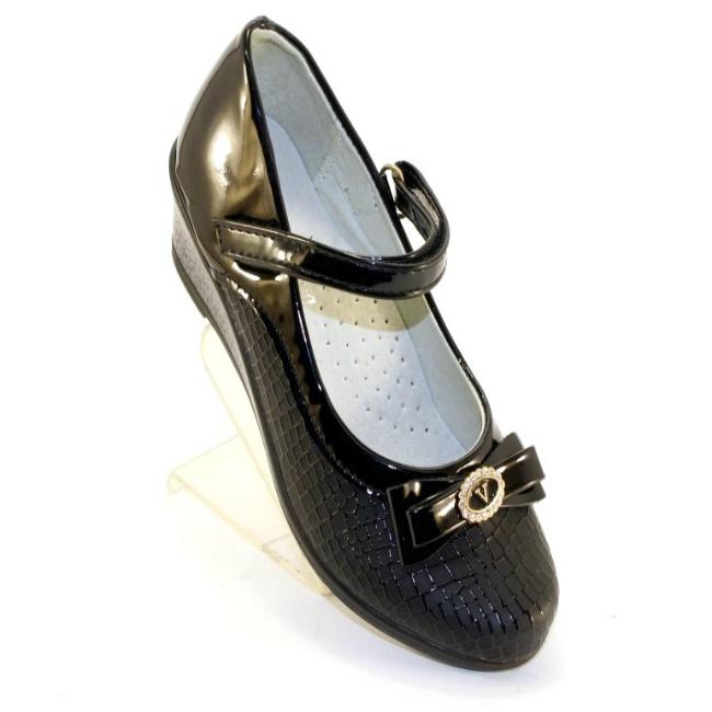 Купить черные туфли для девочки в школу городок