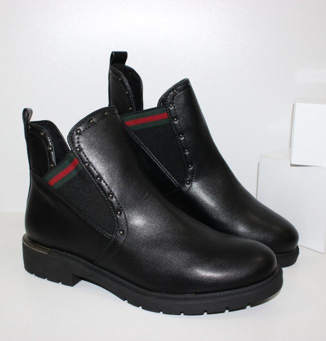 купить деми ботинки на низком каблуке недорого в интернете в Днепре