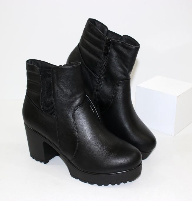 Женские кожанные ботинки, демисезонные женские ботинки