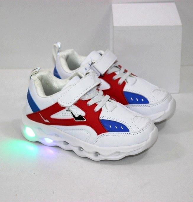 Купить недорого детские белые кроссовки для мальчиков и девочек размеры 21 22 23 24 25 26 27 28 29 30 31 32