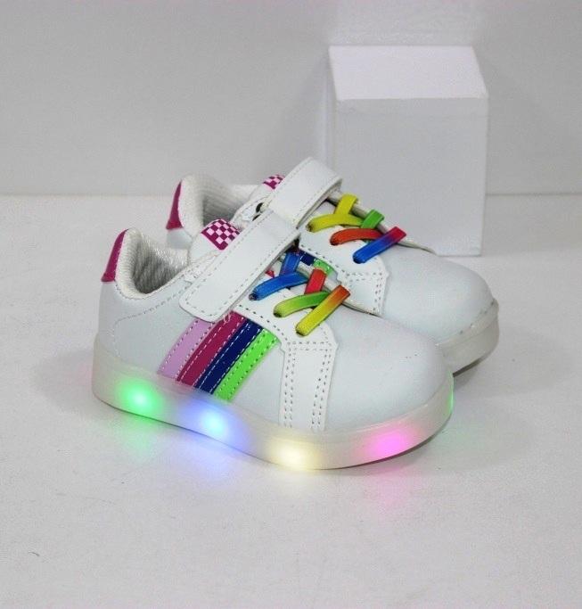 Купить недорого детские кроссовки для девочек размеры 21 22 23 24 25 26 на LED подошве