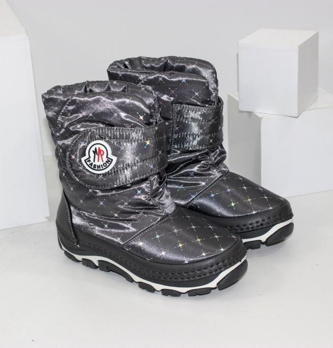Теплі зимові чоботи дутики для дівчаток розміри 25 26 27 28 29 30 31 32