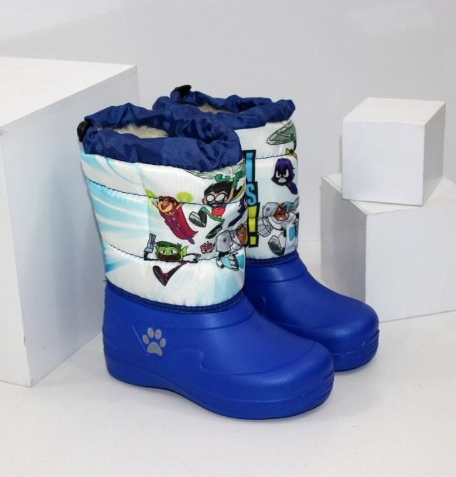 Дитячі зимові чоботи дутики калоші з піни ЕВА