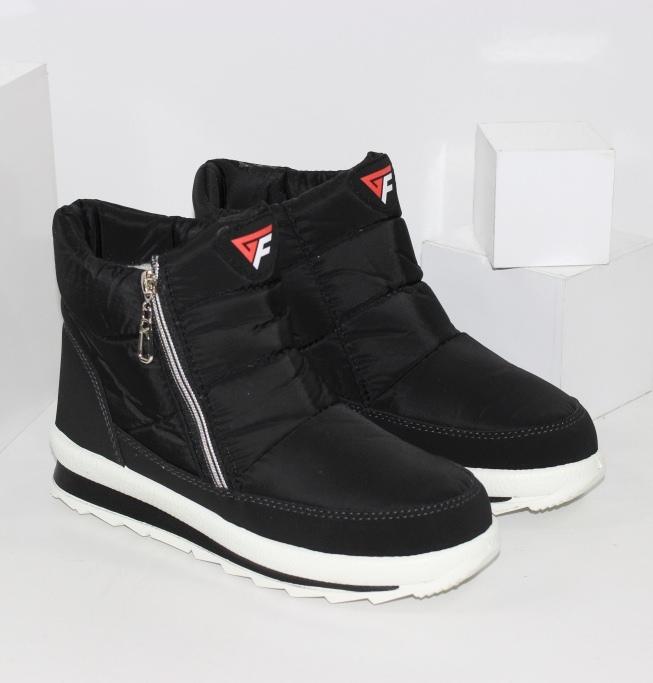 Стильные ботинки дутики с фирменным логотипом