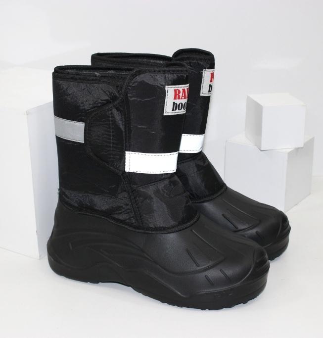 Полу чоботи з піни ЕВА чоловічі чорні