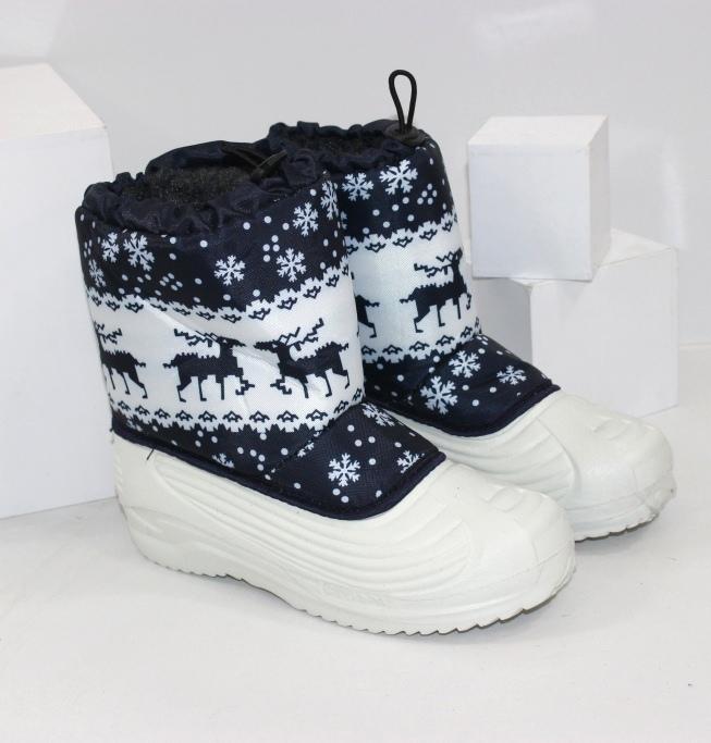Белые сапоги дутики для девочек на пене ЭВА