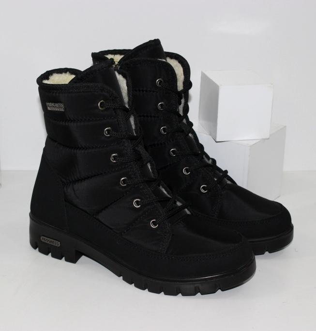 Женские ботинки дутики на низком каблуке