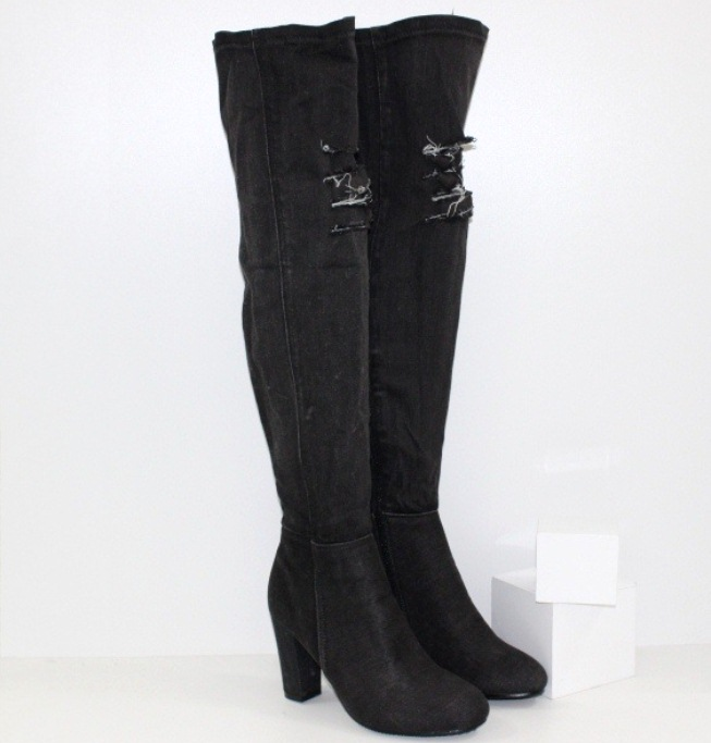 Осінні джинсові чоботи жіночі - інтернет магазин Городок