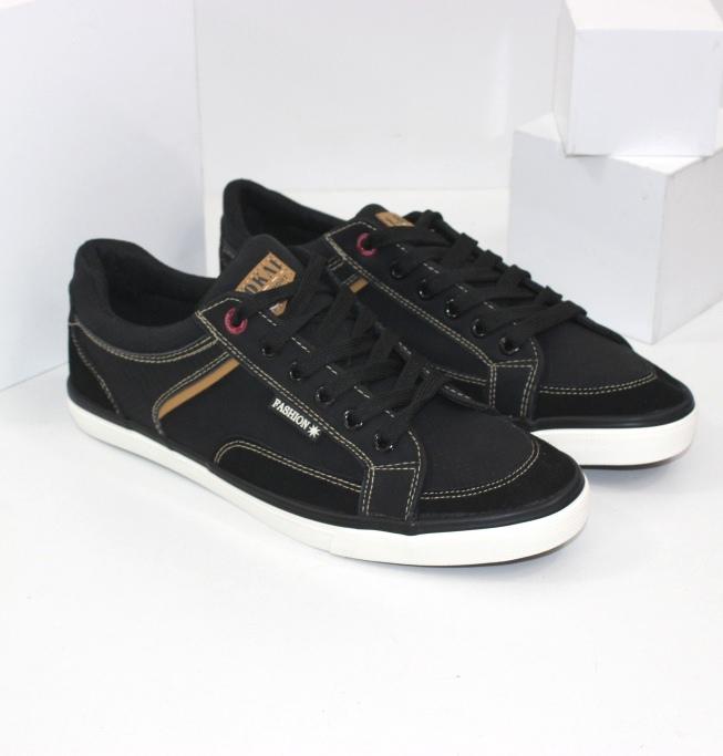 Кеды мужские черные XJY923-1 -  купить в интернете через сайт обуви