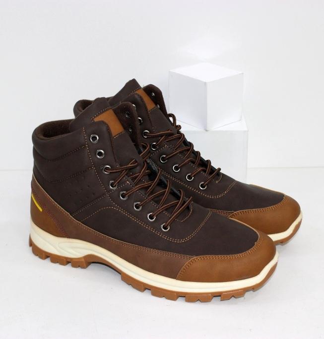 Купить мужские ботинки в коричневом цвете на шнурках