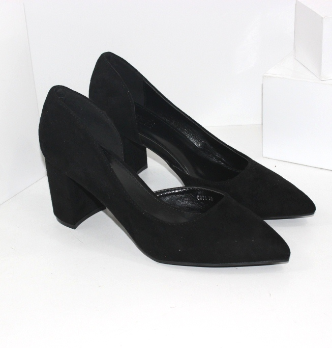 Літні жіночі туфлі із закритими п'ятою і носком