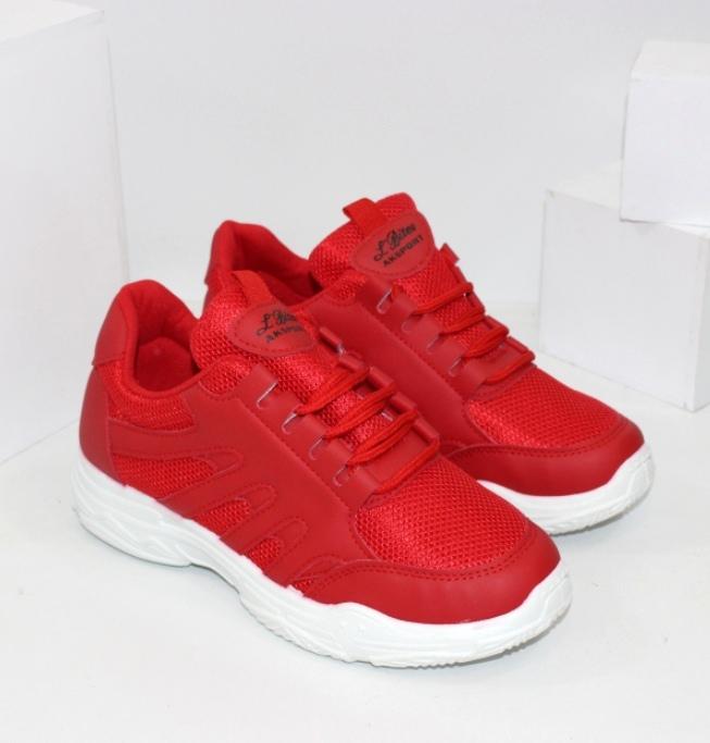 Червоні і чорні кросівки на підлітків розміри 36 37 38 39 40 41