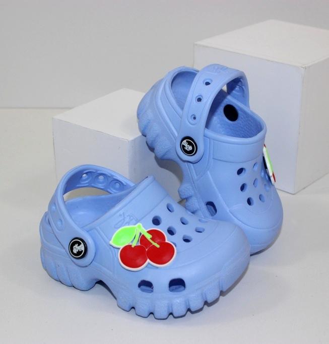 """Кроксы """"Вишенка"""" 118004 - купить недорого где есть распродажа детских сандалей"""