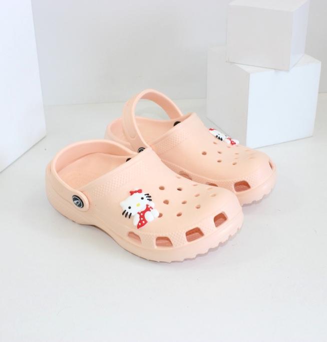 Пляжная детская обувь - кроксы с Китти!