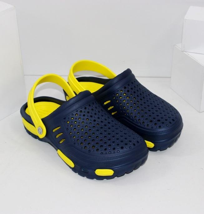 Підліткові крокси з жовтою устілкою